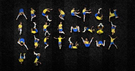 Ney Type: a tipografia inspirada nas quedas do Neymar Jr